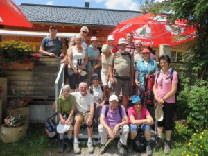 Unsere Wandergruppe in Auenfeld