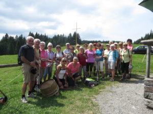 Wandergruppe auf der Alpe