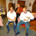 Auch Franz und Fahrer Thomas musizierten mit!