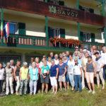 Gruppenfoto vor unserem Hotel
