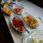 Am Morgen genossen wir das Frühstücksbuffet
