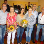 GF Franz Himmer übergab einen Blumenstrauß