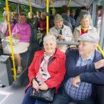 Auffahrt mit den Bussen
