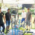 Fahrradreinigung durch Integra-Mitarbeiter