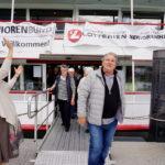 Adieu hiess es dann am ersten Tag im Bregenzer Hafen