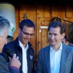 Dann durften wir unseren Landeshauptmann und Sebastian Kurz begrüssen