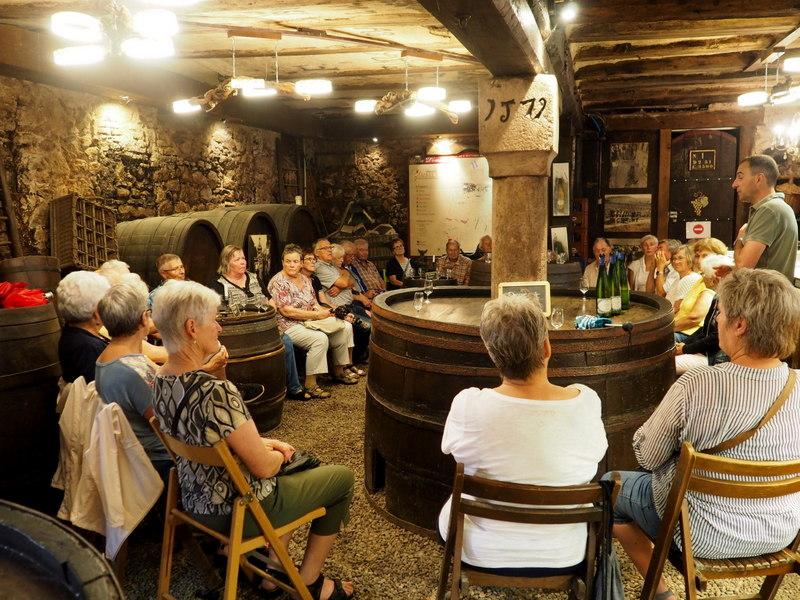 Weinverkostung in Riquewihr
