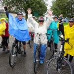 Trotz Regen kamen viele Radler nach Koblach