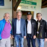 Landtagspräsident Harald Sonderegger mit LO Werner Huber, Walter Ellsensohn und Franz Himmer